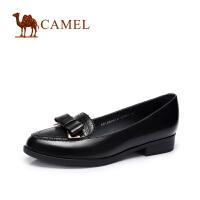 camel骆驼女鞋 甜美舒适 复古蝴蝶结低跟单鞋气质女鞋2016新款