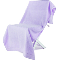 [当当自营]三利 A类加厚长绒棉 缎边大浴巾 纯棉吸水 柔软舒适 带挂绳 婴儿可用 紫丁香色