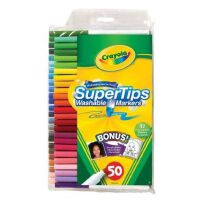 绘儿乐/Crayola 儿童 50色 可水洗 细杆 水彩笔