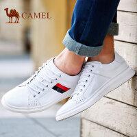 camel骆驼男鞋 新款 时尚休闲拼接撞色潮流小白鞋 男板鞋