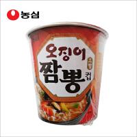 韩国进口食品 碗面方便面农心鱿鱼海鲜小杯面速食泡面煮面拉面67g