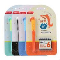 晨光文具直液式钢笔组合卡装可换墨囊 可擦笔 0666鳄鱼