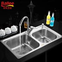 【货到付款】A2102C1101-02  304不锈钢水槽双槽 厨房洗菜盆龙头套装