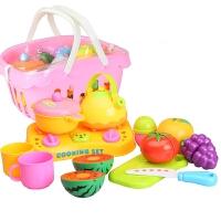 厨房切水果过家家玩具儿童切切乐女孩宝宝仿真做饭餐具水果13件套蔬菜13件套切西瓜寿司海鲜日本菜亲子玩具生日礼物