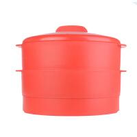 特百惠 双层蒸霸升级版 塑料蒸屉蒸笼蒸格蒸锅