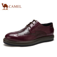 camel骆驼男鞋  冬季新款 英伦时尚布洛克雕花 男鞋