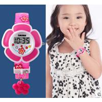 女孩潮流 可爱童真女学生腕表手表电子表创意花朵儿童手表