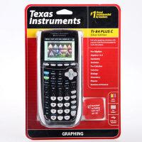 德州仪器TI-84 Plus C Silver Edition 彩屏图形计算器 AP/SAT考试计算器