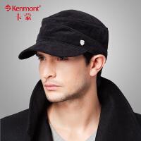 kenmont军帽 男士帽子冬季时尚韩版鸭舌帽 男帽秋冬帽子棒球帽平顶帽 男2121