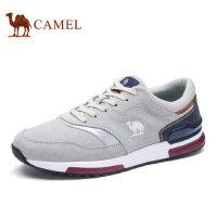 camel骆驼男鞋 新品 男士轻盈透气舒适拼色潮流运动休闲鞋