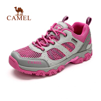 camel骆驼户外徒步鞋  春季女款透气网布 减震防滑低帮徒步鞋