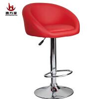 惠万家时尚吧台椅创意电脑椅子家用休闲可升降靠背转椅美甲椅高椅子