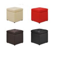 木晖 单人皮革沙发凳 储物凳 收纳凳 颜色随机发货