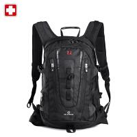 swisswin瑞士军刀双肩包登山包男女韩版潮大容量户外旅行包男式包
