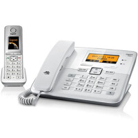 集怡嘉(Gigaset) 西门子C810A 2.4GHz数字无绳电话机(珍珠白)彩屏