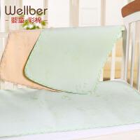威尔贝鲁 隔尿垫防水透气 婴儿竹浆纤维隔尿垫3D 新生儿用品可洗