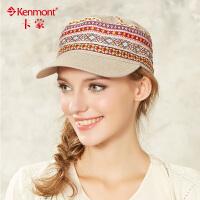 夏季帽子 女式个性平顶帽 民族风防晒鸭舌帽时尚女帽3054