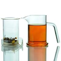 楼龙 耐热玻璃杯 鹰嘴创意泡茶器 红茶三件式茶具 功夫茶杯 CF-111     1502