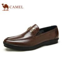 camel骆驼男鞋  冬季新款 日常休闲牛皮懒人套脚鞋