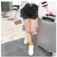 夏季外穿中大儿童裤女童牛仔短裤薄款子6-8-12小孩童装热裤 可礼品卡支付