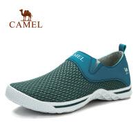 camel骆驼户外男款徒步鞋 春夏新款日常运动透气网布套筒徒步鞋