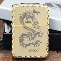 美国芝宝Zippo打火机 复刻版/磨边镀金 1941复刻金冰龙