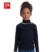 jjlkids季季乐童装女童毛衣冬装儿童高领厚款大童毛线衣GQM52002