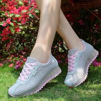 春夏新款网布跑步女鞋运动休闲鞋透气松糕荧光鞋摇摇鞋995支持货到付款