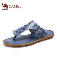 camel骆驼男鞋 2016夏季新款 青春潮流超纤皮夹趾舒适凉拖鞋男