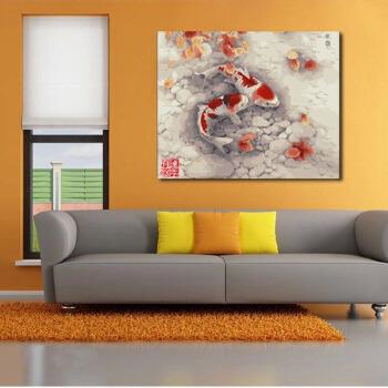 【菲绣绣艺墙壁装饰】数字油画特价 客厅风景棉布丙烯