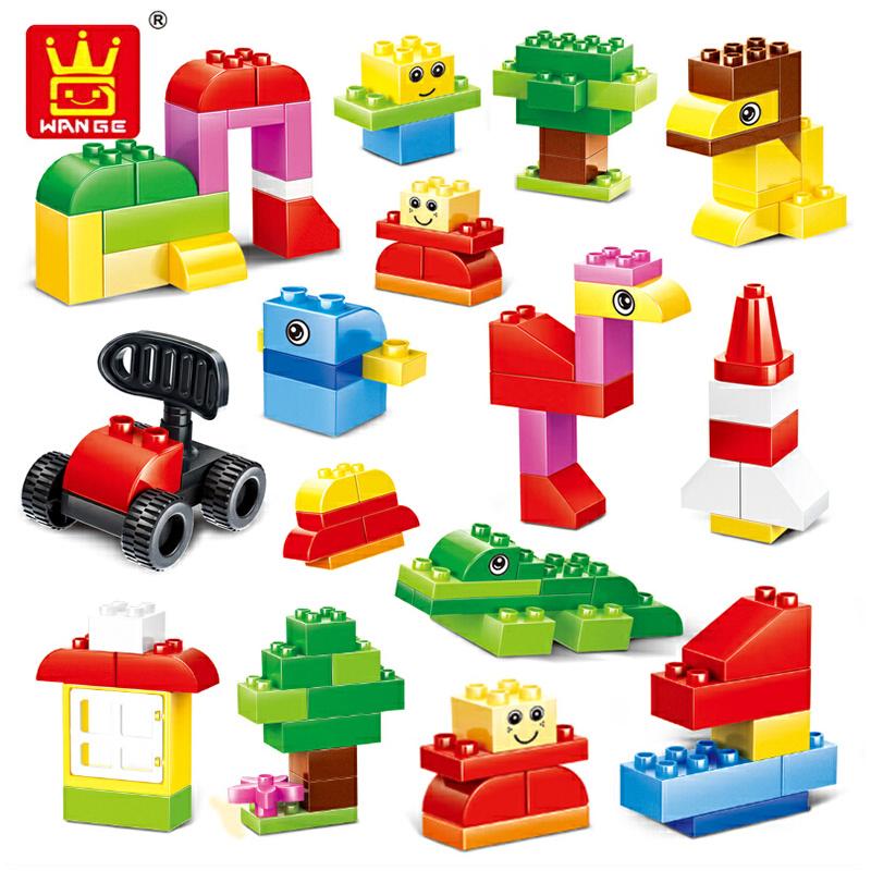 万格厂价直销大积木百变创意儿童58232颗粒益智玩具乐高积木水井图片