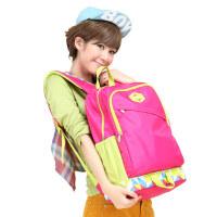 卡拉羊小学生初中学生书包女双肩包背包旅行包休闲大容量韩版潮CX2579