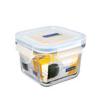 GLASS LOCK 三光云彩 韩国进口钢化玻璃保鲜盒微波炉碗迷你饭盒RP545 210ML SG327-13