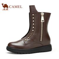 Camel 骆驼靴子 时尚休闲帅气中性风女靴 新款女士休闲女靴