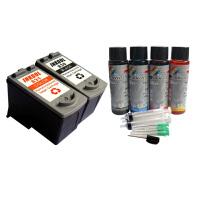 INKOOL PG830墨盒+CL831墨盒+专业级填充墨水适用IP1980墨盒 iP2580墨盒 MP145墨盒 MX318墨盒