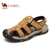 camel骆驼男鞋 2016夏季新款 户外休闲鞋子透气男士包头凉鞋