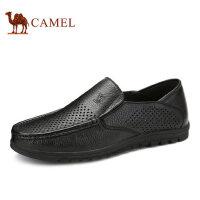 camel骆驼男鞋 乐福鞋男休闲镂空男鞋透气软底皮鞋 爸爸鞋
