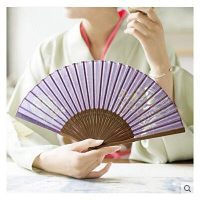 精品女扇 6寸雕花纸扇子古典日式和风和服汉服扇古风扇子折扇 可礼品