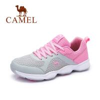 Camel/骆驼女鞋 运动休闲  春夏新款单鞋圆头系带运动女鞋