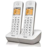 集怡嘉A190L 套装 岩石白  Gigaset原西门子品牌电话机A190L数字无绳电话一拖一中文显示双免提屏幕背光家用办公座机子母机套装(岩石白)