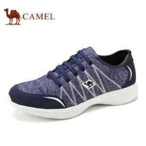 camel骆驼男鞋 新品 针织布鞋面透气轻盈日常休闲鞋男