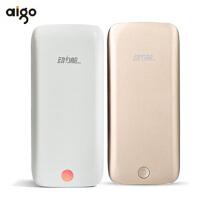【包邮+聚合物原装电芯】Aigo 动力舱 FB10 薄 聚合物移动电源 手通用充电宝 10000毫安 苹果/HTC/iPhone4S 5C 小米 手机 充 双USB输出