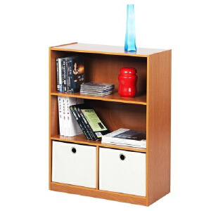 [当当自营]慧乐家 三层带抽收纳柜11217 木纹色 书柜书架 柜子