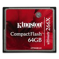 金士顿(Kingston) 64GB 266X CF 64G 存储卡(CF/64GB-U2)单反相机存储卡