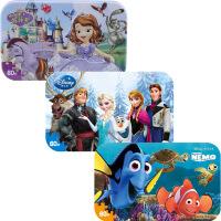 【当当自营】迪士尼拼图玩具 60片铁盒木质拼图三合一(苏菲亚2265+冰雪奇缘2391+海底总动员2393)