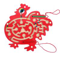木丸子大公鸡磁性迷宫 运笔迷宫玩具 儿童益智玩具 红色