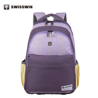 SWISSWIN瑞士军刀双肩包印花女包学院时尚休闲背包学生包swk1002