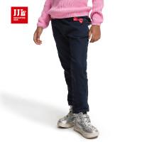 jjlkids季季乐童装女童春秋季长裤针织牛仔裤中小童长裤GQK53221