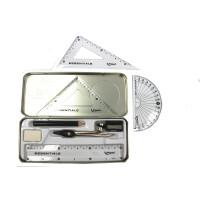 法国 马培德圆规套装 数学盒8件套 圆规+尺子+橡皮 铁盒194608