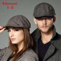 kenmont帽子男士韩版潮时尚鸭舌帽女贝雷帽0576